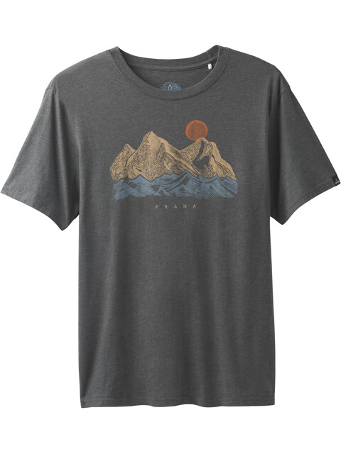 Prana M's Coronado Tee Charcoal Heather